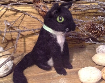needle felted kitten, cat, by lizabeth fiberanimails.