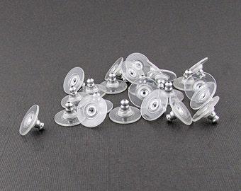 Comfort Clutch Earring Backs, Hypoallergenic Aluminum S152