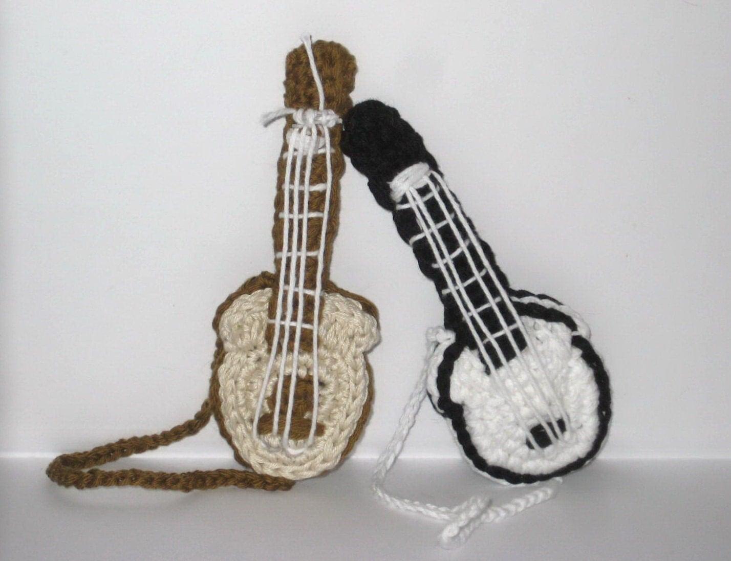 Amigurumi Hat Crochet Patterns : Amigurumi crochet pattern guitar Guitar amigurumi tutorial