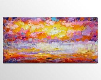 Landscape Painting, Large Painting, Abstract Art, Abstract Painting, Original Oil Painting, Canvas Art, Impasto Art, Wall Art, Large Art