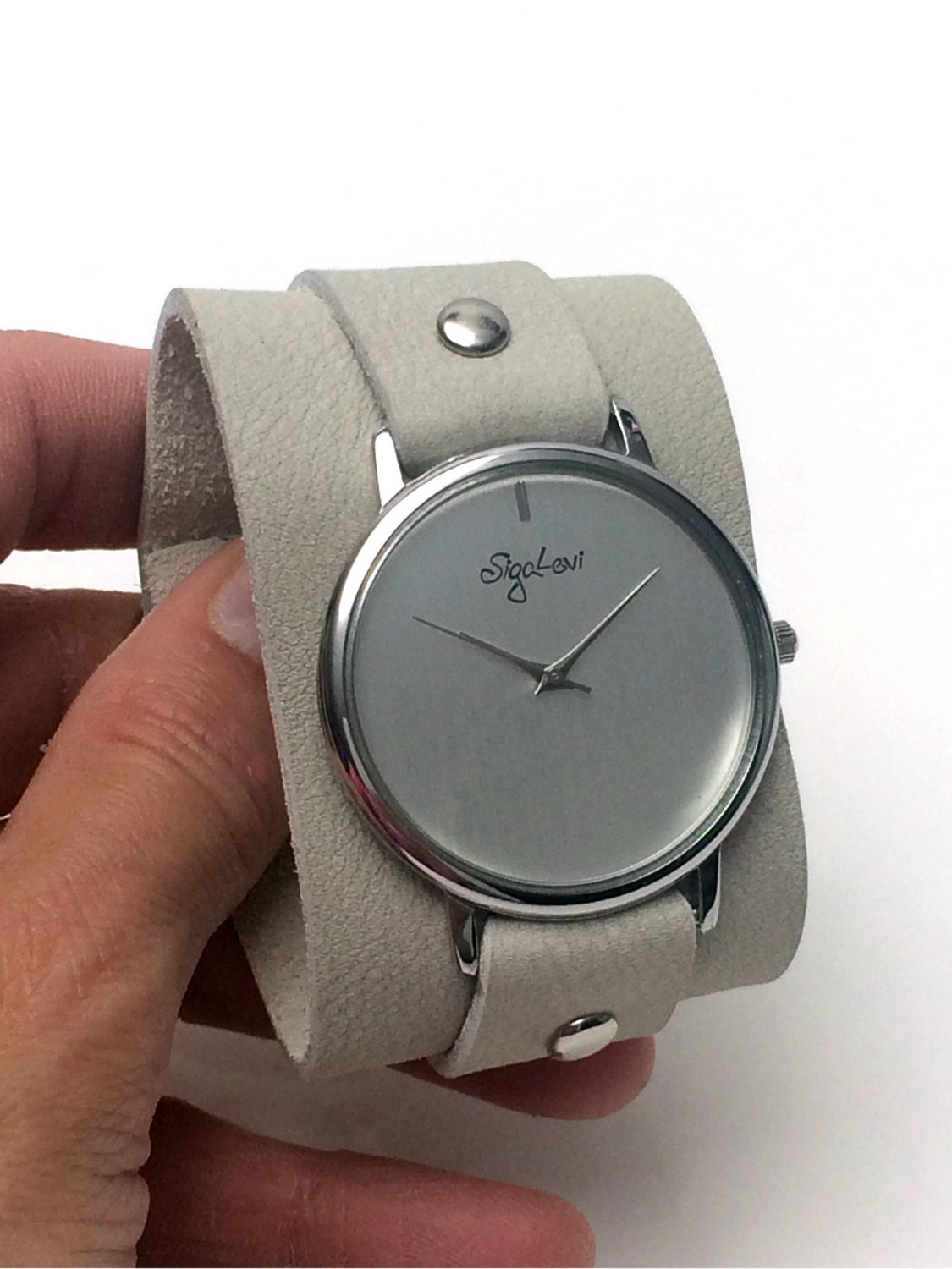 wide leather band watches leather cuff