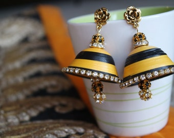 Quilled Jhumka Earring