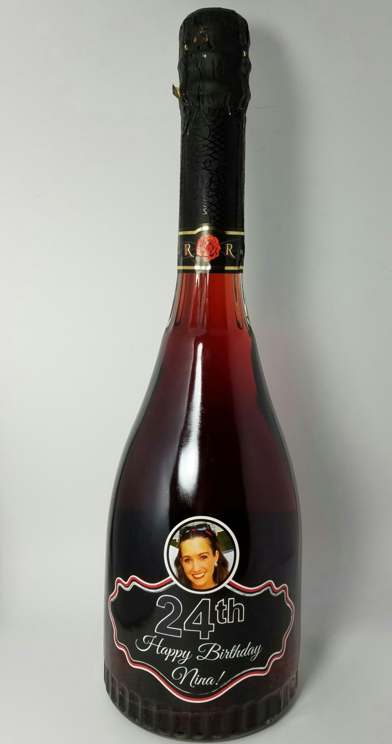 Personalized Birthday Wine Bottle Label Party Favor Fits Rosa