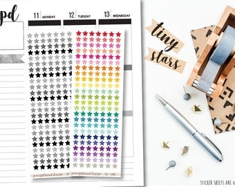 Tiny Star Stickers - Planner Stickers - S07
