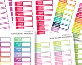 Design Your Own -  Appointment Planner Stickers -  Suits Most Planners
