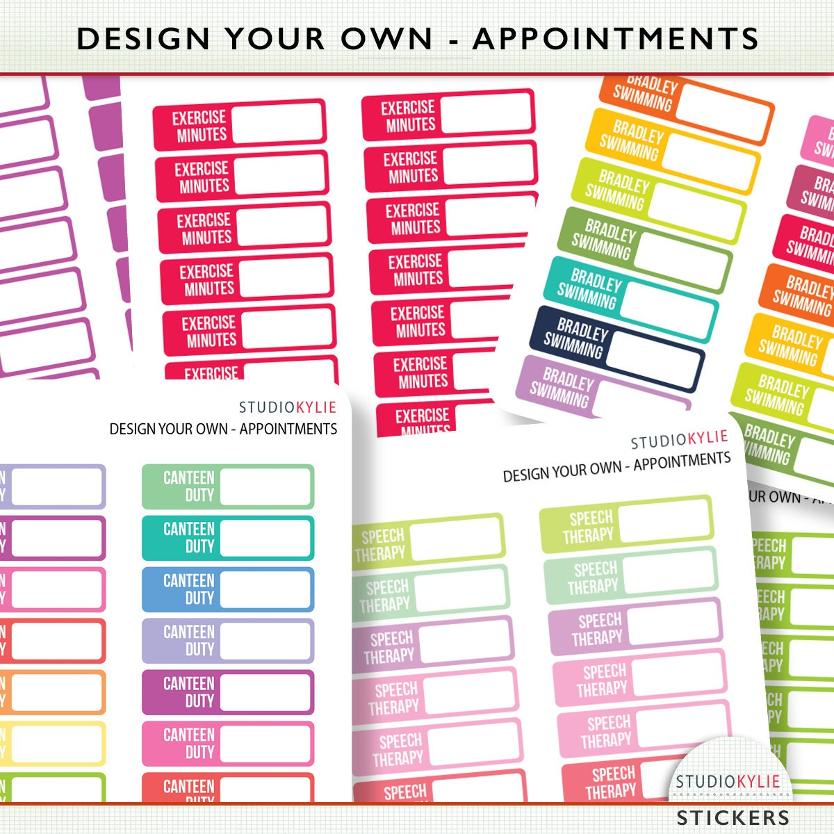 Design your own appointment planner stickers suits most for Design my own planner