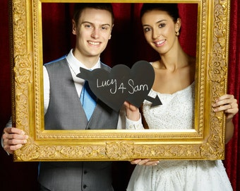 Real Chalkboard Love Hearts Shape 25cm Photo Booth Prop  013-503 Photo Booth Prop for Wedding Photography