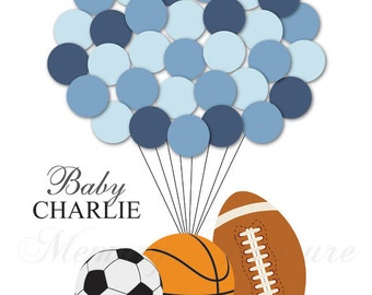 All Star Sports Guest Book Baby Shower Guest Book Alternative Birthday Guest Book Alternative Children Kids Guest Book All Star Guestbook