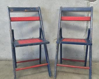 Vintage 1930's Folding Chair (8H2DHN)