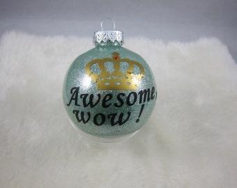 Custom Made  Glitter Christmas ball, Christmas ornament, Hamilton, King George
