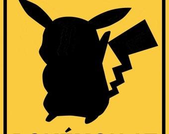 Pokemon at Play Sign- Pikachu