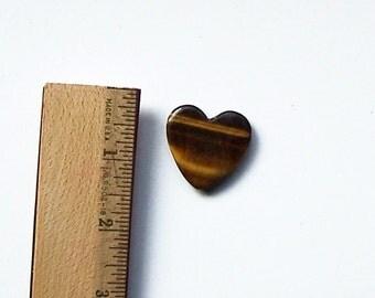 Jewelry Supply, Tigereye Heart, Heart Shaped Tigereye, Tigereye Pendant, Vintage Cut Tigereye Heart