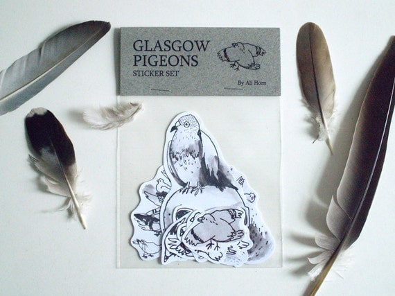 Glasgow pigeon stickers