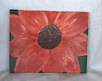 "Original Acrylic Painting ""Red Flower"""