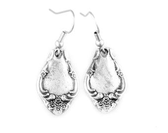 Spoon Earrings,Adele, Silver Earrings, Silver Spoon Jewelry, Vintage Earrings, Handmade Earrings, Spoon jewelry, Silver Spoon Earrings,Gifts