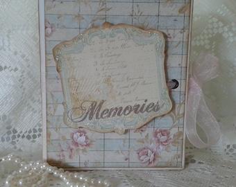 Primrose Mini Scrapbook Album,  Handmade Scrapbook Photo Album, 6 1/2 x 4 7/8 Mini Album