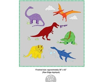 Dinosaurs - Raw Edge Appliqué Pattern