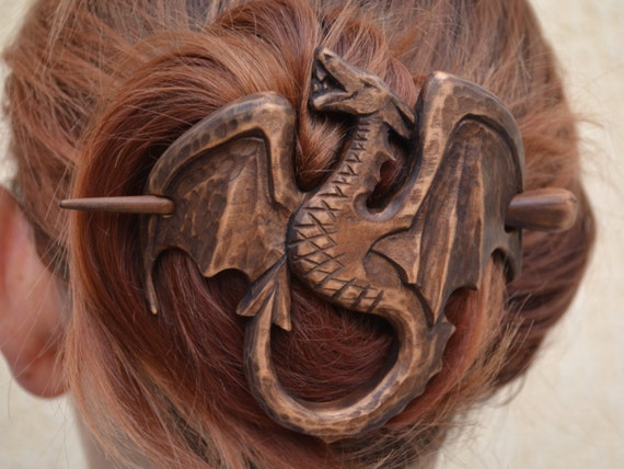 Dragon hair barrette womens gift wife for by
