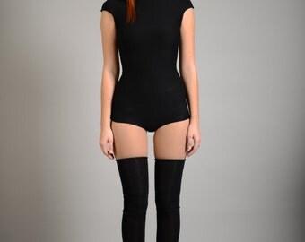 Rave Bodysuit, Women Bodysuit, Womens Leotard, Black Bodysuit, Minimalist Fashion, Plus Size Clothing, Avant Garde Clothing, Black Sexy Top