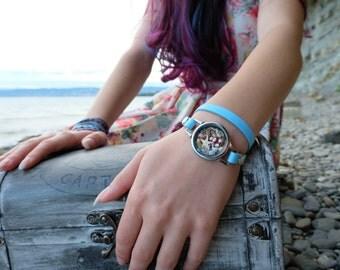Mermaid beach bracelet, stormy ocean, beach bracelet, mermaid bracelet, ocean bracelet, modern bracelet, nautical bracelet.
