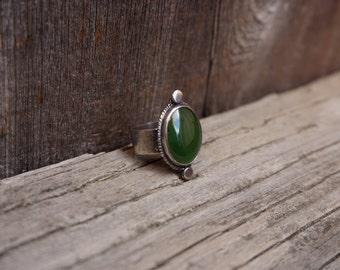 Jade Statement Ring Size 6.5