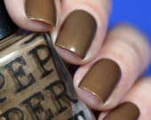 Dark Brown Gold Nail Polish Autumn 2016 Late Night Study Buddy Bath and Beauty Gift For Her