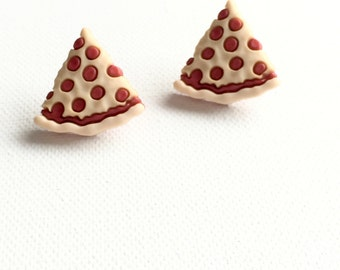 Pizza Earrings, Pizza Stud Earrings, Pepperoni Pizza Earrings, Pepperoni Pizza Stud Earrings, Pizza Slice Earrings, Pizza Slice Studs