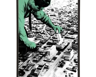 Los Angeles Architect Model Pop Art Print - Retro Architect City Architecture Modernist MidCentury Interior Decor Design Home Prints