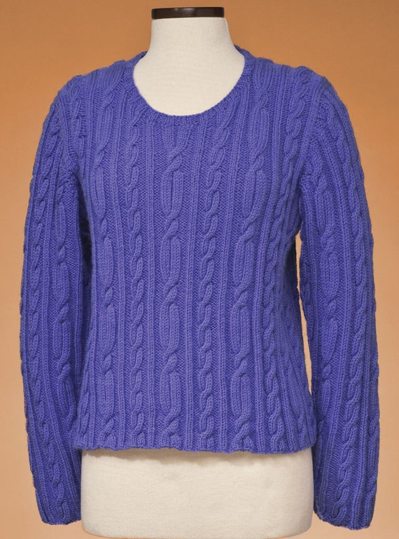 Top Down Knitting Patterns : Top down cable pullover pdf knitting pattern only