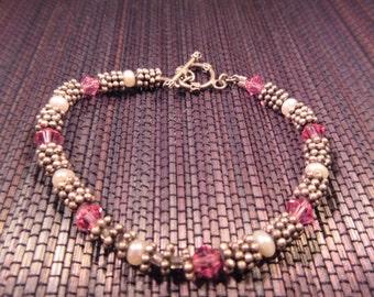 Delicate Retro Sterling Silver Bracelet