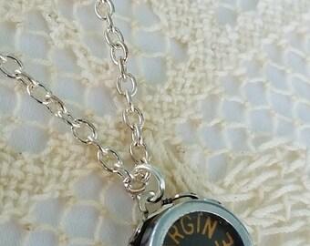 Margin Release Typewriter Key Necklace, Vintage Key Jewelry, Steampunk Jewelry, Margin Release Pendant, Typewriter Key, Upcycled Necklace