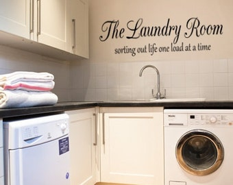 The Laundry Room sorting life out one load at a time home wall art sticker