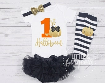 First Halloween Onesie, 1st Halloween,  First Halloween Outfit, Girls 1st Halloween, Halloween Outfit, Pumpkin, Fall Oufit, ONESIE ONLY