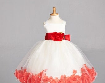 NEW Ivory Spaghetti Communion Baptism Spring Summer Girl Pageant Recital Petal Wedding Easter Occasion Dress S M L XL 2 4 6 8 10 12 14