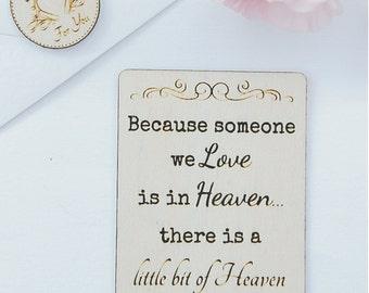 Wooden Keepsake Wallet Card - Memorial Sympathy Bereavement Loss Dad Mum Grandad Grandma