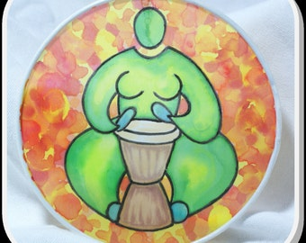 Fire Drummer - Original Silk Painting