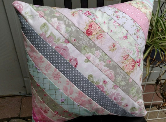 Handmade Shabby Chic Pillows : Shabby Chic Quilted Pillow Pillow Handmade Unique Gift