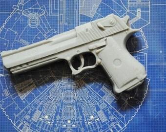 Handmade Large 3D Gun Soap - Gun, Pistol, Police Officer, Father's Day Gift, Man Soap