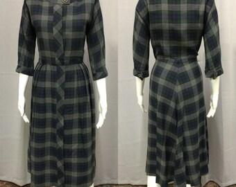 Vintage 1960's Plaid Shirt Dress by Eve Carver Original