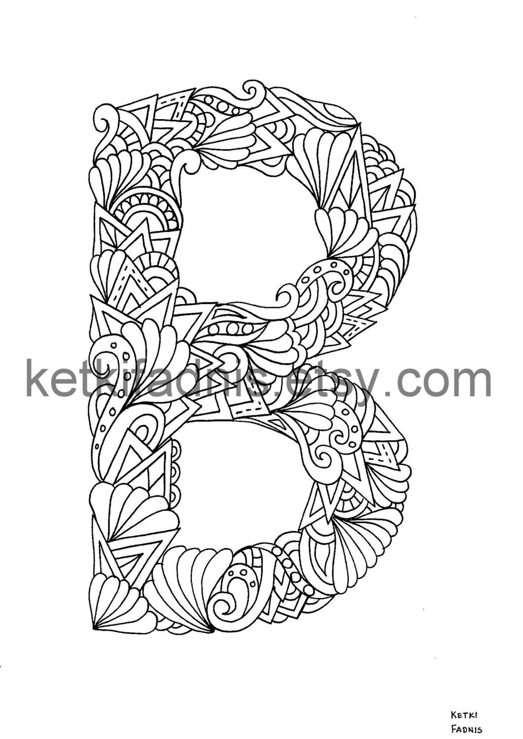 letter b coloring page instant pdf download alphabet coloring