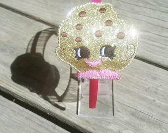 Kooky Cookie shopkin headband slider with headband, Cookie headband, Shopkin party, Shopkin birthday