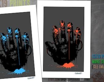 Gasmask, Street Art, SALE, Cole Brenner, Digital Art, originally created for a J!NX Shirt, extended colorways!