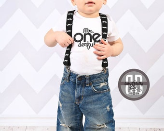 First Birthday Boy Outfit, DIY, Iron On Transfer, Mr. One derful, 1st Birthday Boy Outfit, First Birthday Shirt, First Birthday Outfit Boy
