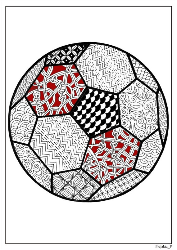 Sports Coloring Pages For Adults. Adult coloring page  football for adults soccer ball instant gift printables sports dad adultssoccer