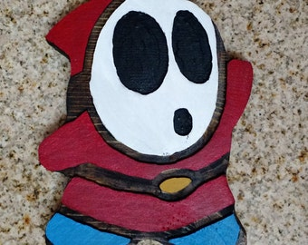 Wood Carved Shy Guy - Super Mario Bros