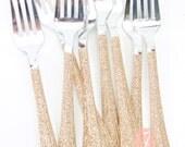 Rose Gold Glitter Plastic...