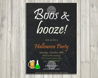 Boos and Booze//Halloween Party