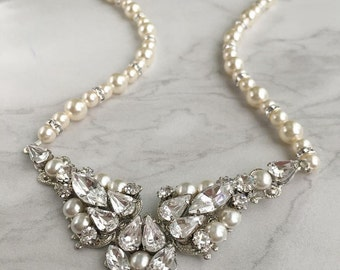 Bridal necklace - statement wedding necklace - St John necklace