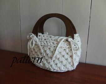 Digital crochet pattern t shirt yarn handbag/ Zpagetti bag pattern/ crochet yarn bag pattern/ crochet yarn bag tutorial/ xl crochet  .