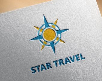Star Travel Logo Template, Tourism, Adventures, Travel Agency, Icon, Brand Name